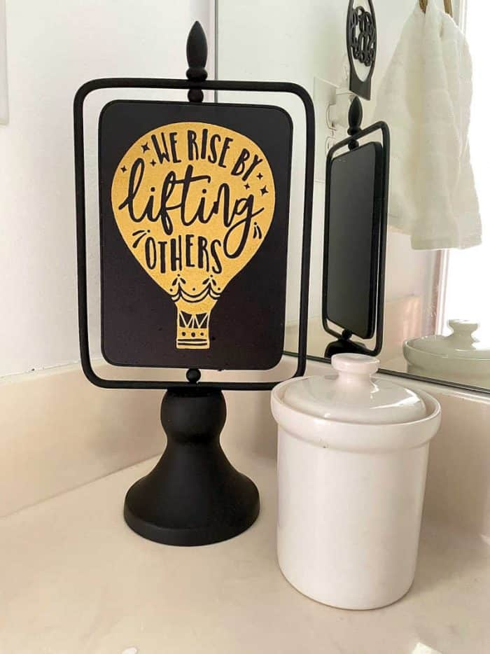 Bathroom counter styling