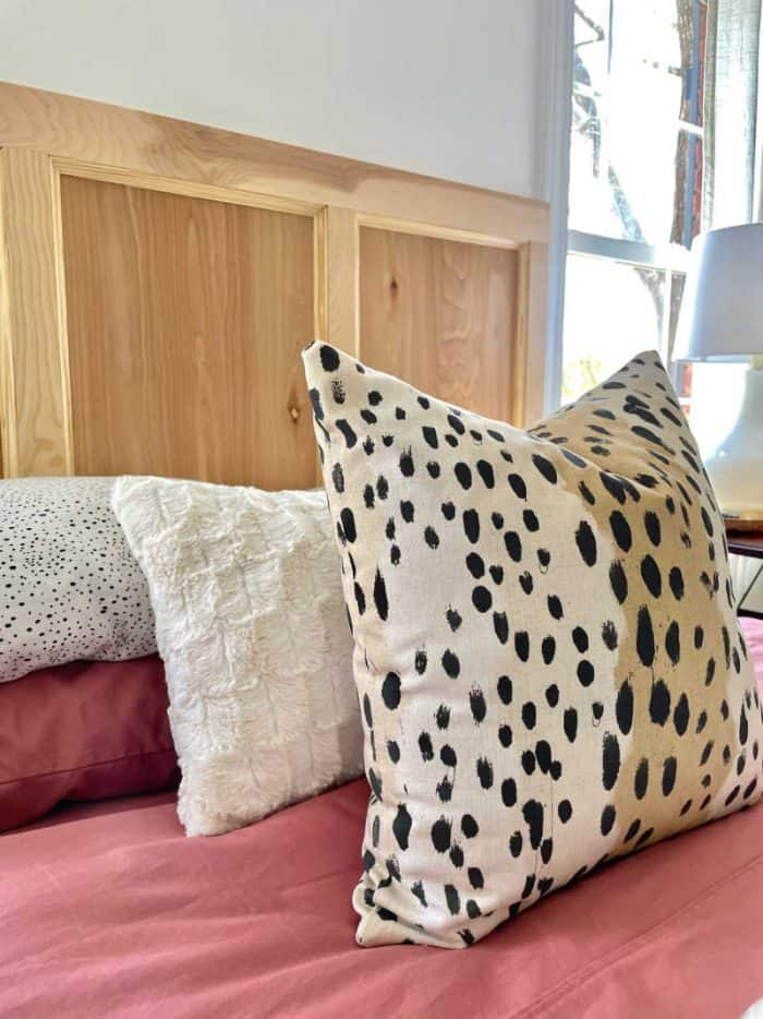 Bedroom makeover throw pillows