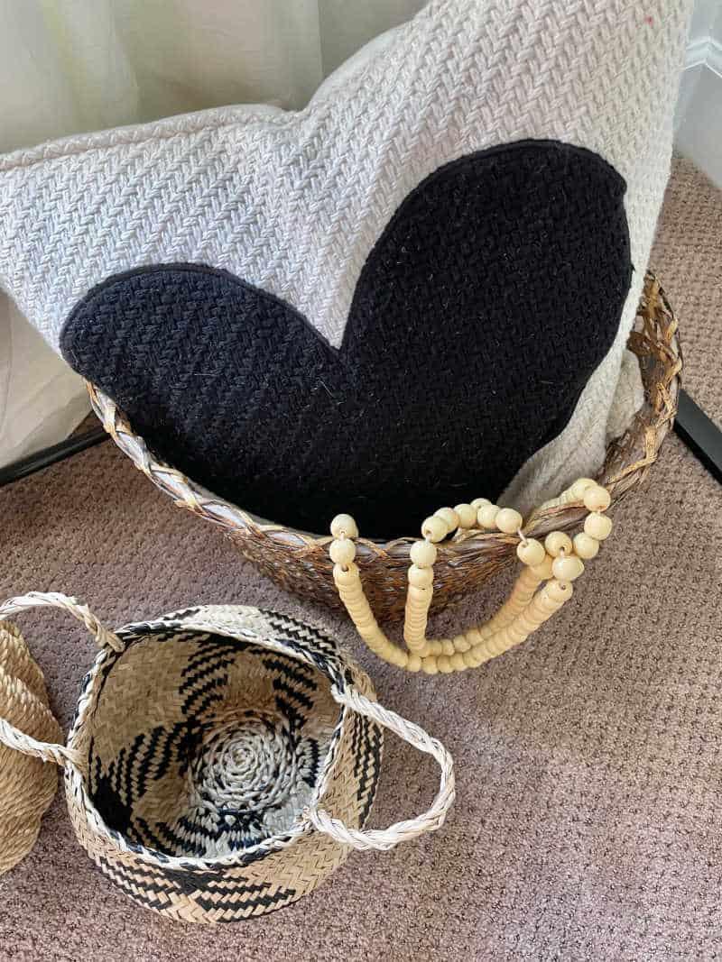Bedroom basket styling