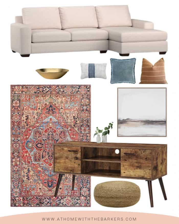 Light colored sofa and room makeover ideas with color