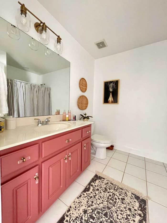 Bathroom mauve aesthetic