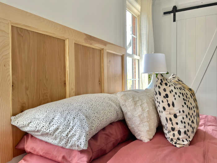 Birch headboard DIY wall mount