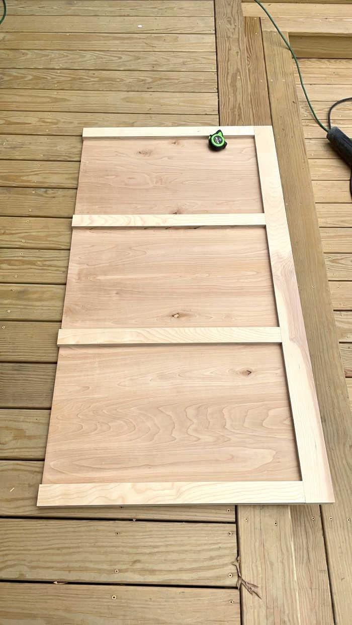 DIY Birch Headboard