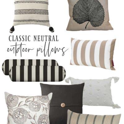 Outdoor throw pillows Neutral colors