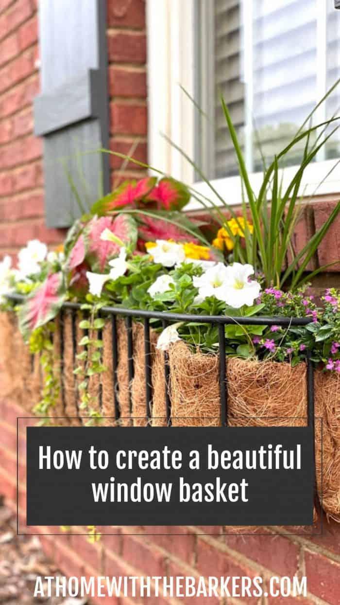 how to create a beautiful window box against a brick house