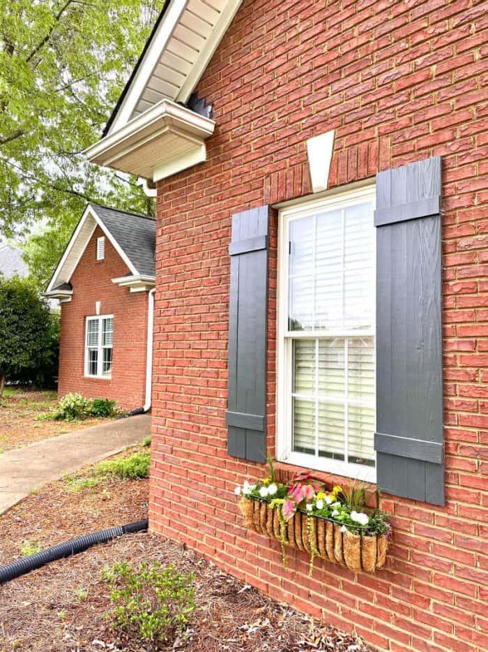 Window Box with wood Shutters