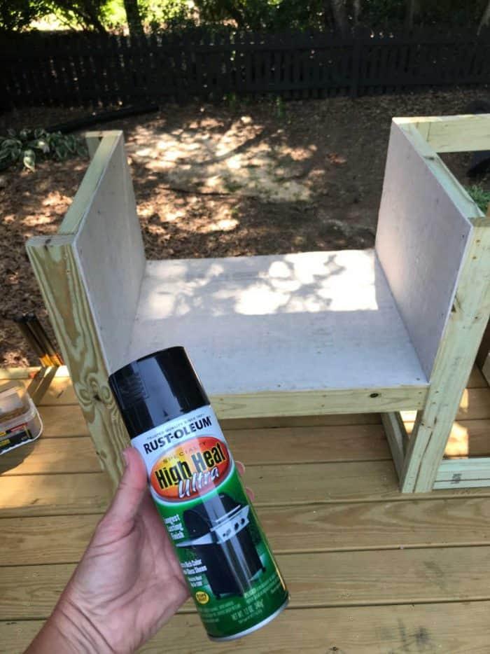 DIY Outdoor Kitchen High heat spray paint