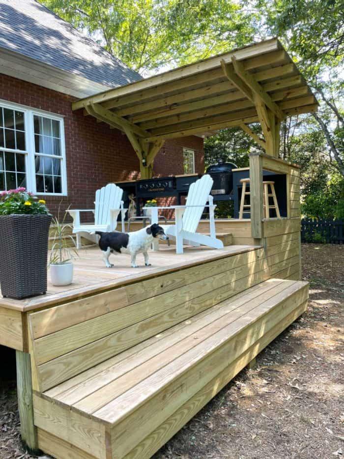 DIY Outdoor Kitchen and deck