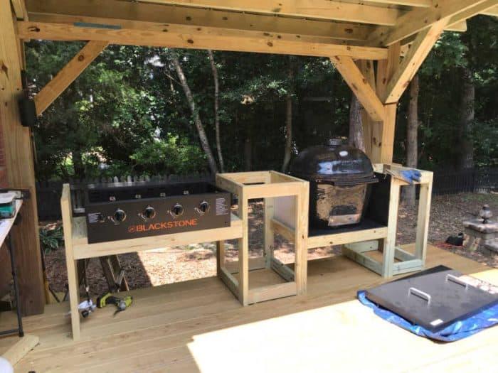 DIY Outdoor Kitchen raw build in