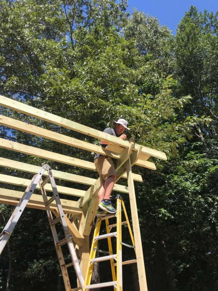 DIY Outdoor Kitchen roof