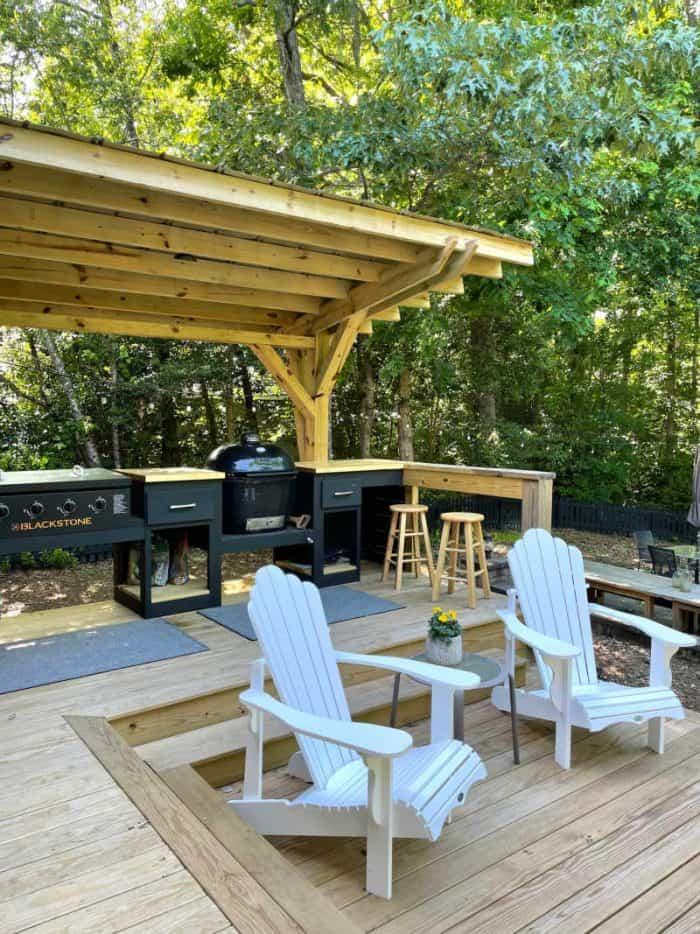 DIY Outdoor Kitchen station
