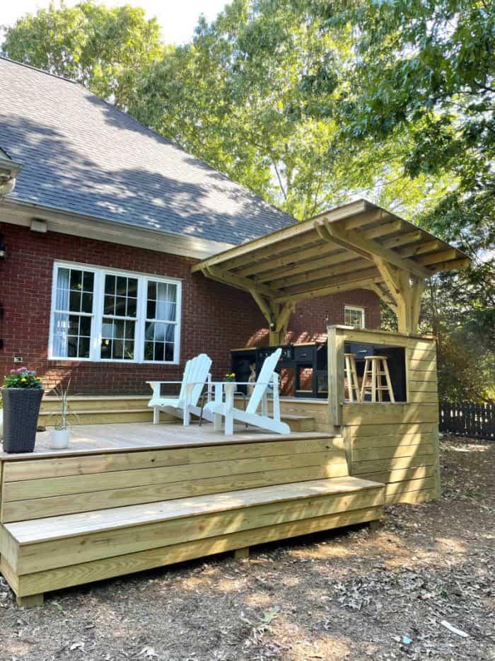 DIY Outdoor Kitchen yard view