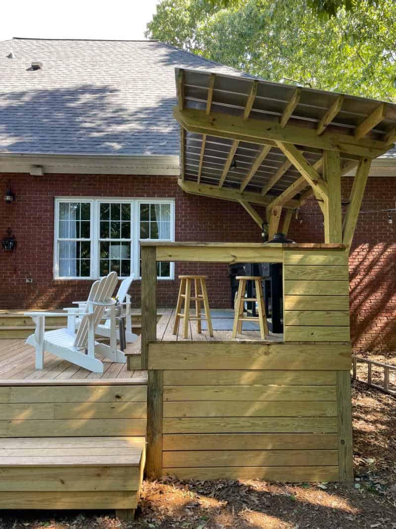 Deck build side view