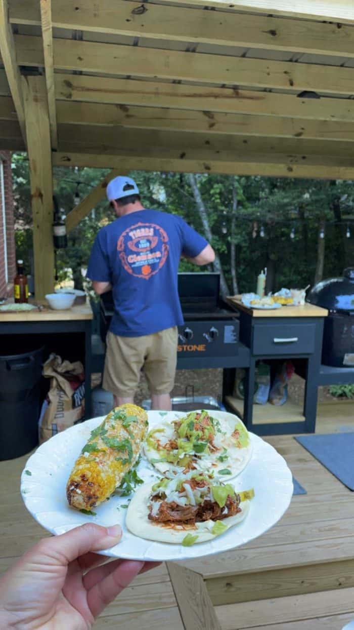 Outdoor Kitchen Cooking