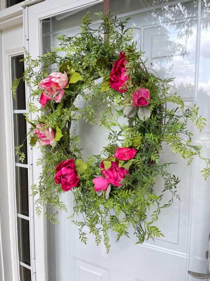 summer peony grapevine wreath