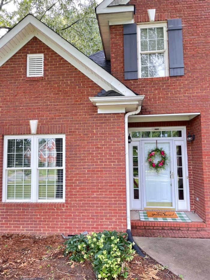 Small Porch wreath and curb appeal