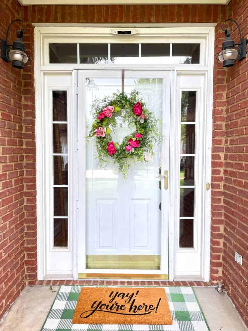 Easy summer peony grapevine wreath