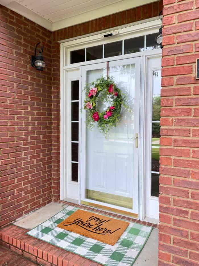Front door summer wreath