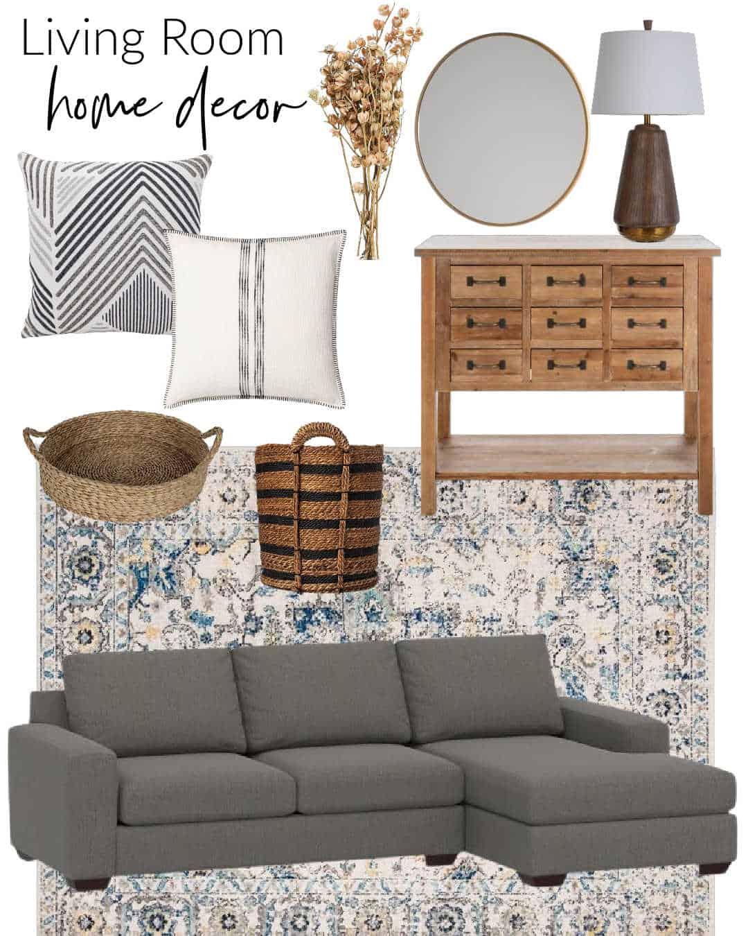 Fall Home Decor Living Room Graphic
